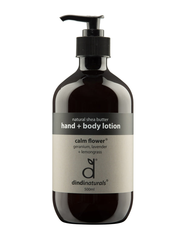 hand + body lotion calm flower