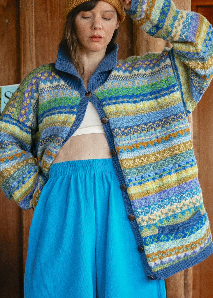 Colorful Wool Cardigan