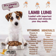 Lamb Lung Fillets for Dogs - Dog and Puppy Chews, Huge Bag, Made in USA, All-Natural Treats, Crispy not Crumbly, Large and Small Dogs, Flavor Dogs Love