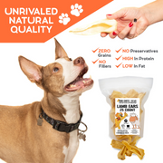 Lamb Ears for Dogs - Dog and Puppy Chews | NO Odor | 25 Pack | USDA | All Natural, Treats | Long Lasting Chew for Large and Small Dogs