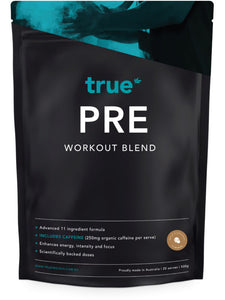 True PRE Workout Blend 500g (with Caffeine) - Australian Distributor - Oxygen Nutrition