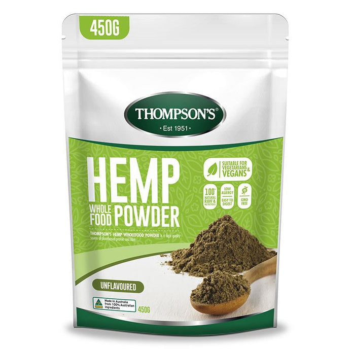 Thompsons Nutrition Hemp Protein - Australian Distributor - Oxygen Nutrition