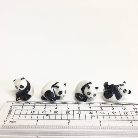 Small Miniature Ceramic Pandas