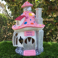 Fairy Disco House With Multi Coloured Solar Lights