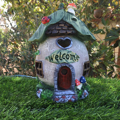 Welcome Fairy House with Solar Lighting