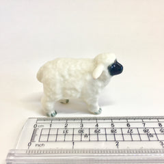 Miniature Ceramic Black and White Sheep