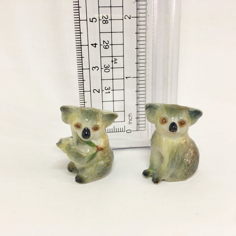 Small Miniature Ceramic Koalas