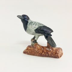Miniature Ceramic Magpie with Branch