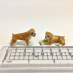 Small Miniature Ceramic Boxers