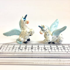 Miniature Ceramic Blue Unisys (Unicorn/ Pegasus)