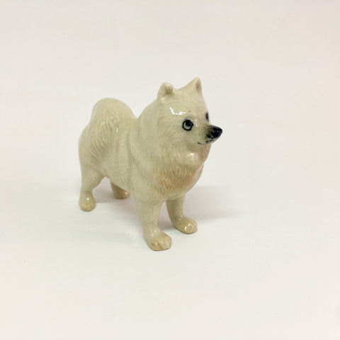 Miniature Ceramic Samoyd