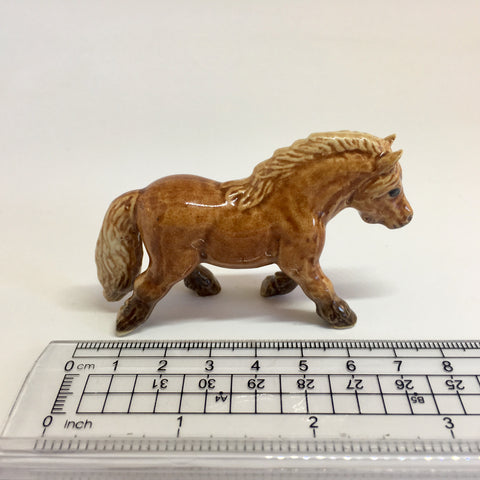Miniature Ceramic Brown Pony / Horse