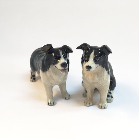 Miniature Ceramic Border Collies