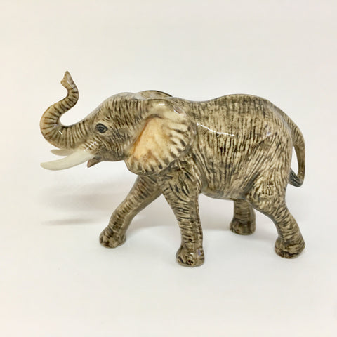 Miniature Ceramic Elephants - Mum and Baby