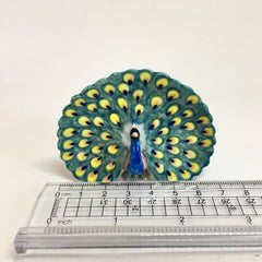 Miniature Ceramic Peacock
