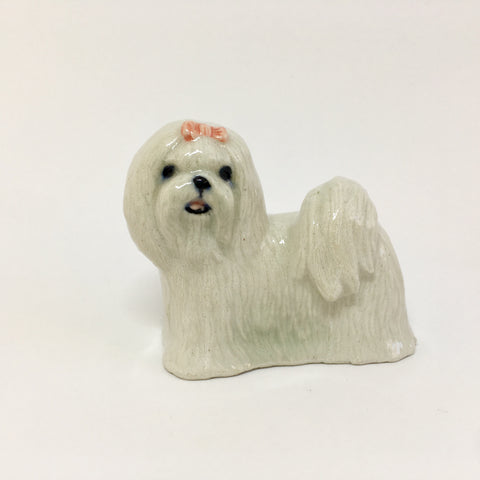 Miniature Ceramic Maltese Dog