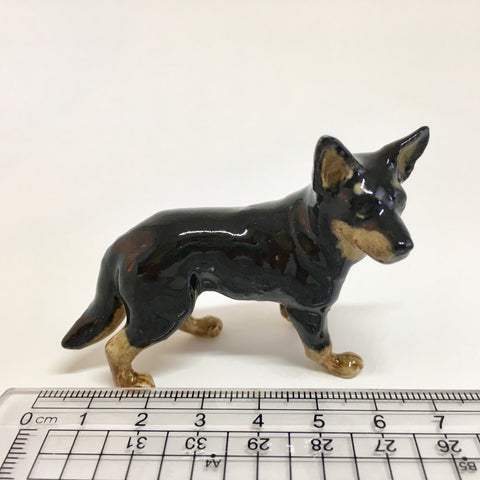 Miniature Ceramic Black and Tan Kelpie