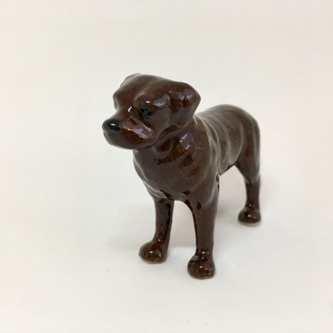 Miniature Ceramic Chocolate Labrador