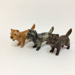 Miniature Ceramic Cairn Terriers