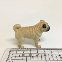 Miniature Ceramic Pug Dog Standing