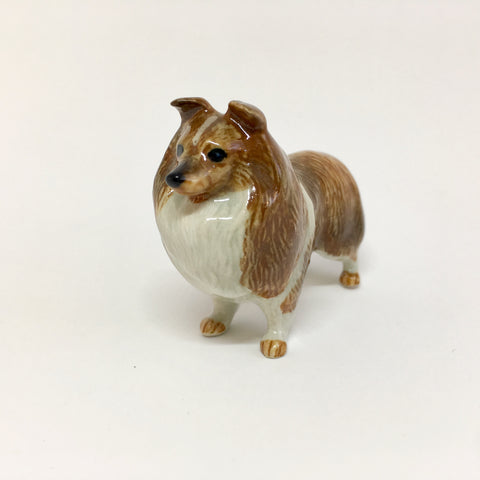 Miniature Ceramic Shetland Sheepdog