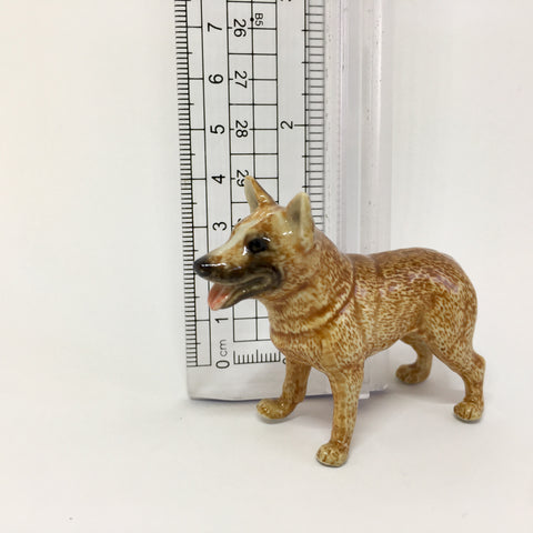 Miniature Ceramic Red Heeler Cattle Dog