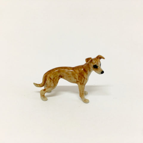 Small Miniature Ceramic Brown Greyhound / Whippet