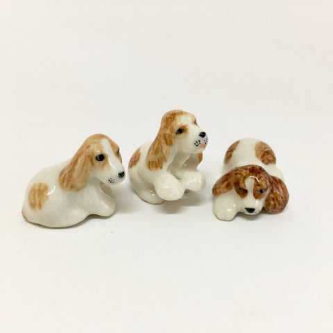 Small Miniature Ceramic Cocker Spaniels