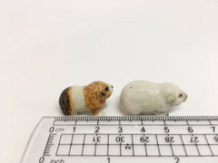 Small Miniature Ceramic Guinea Pigs