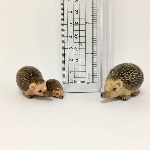 Small Miniature Ceramic Hedgehogs