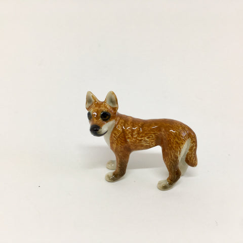 Small Miniature Ceramic Dingo