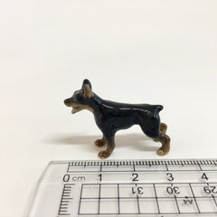 Small Miniature Ceramic Doberman Standing