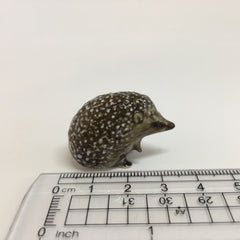 Small Miniature Ceramic Hedgehog Standing