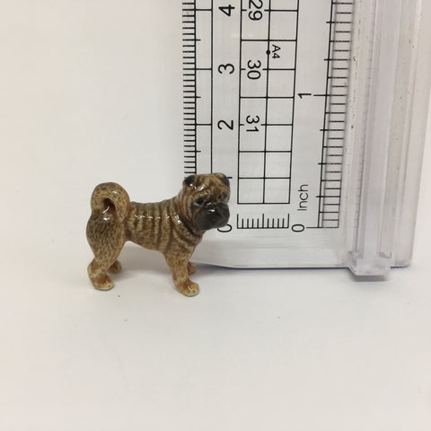 Small Miniature Ceramic Shar-Pei