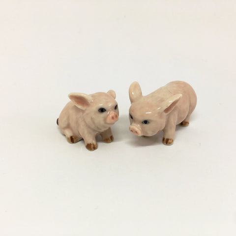 Small Miniature Ceramic Pigs