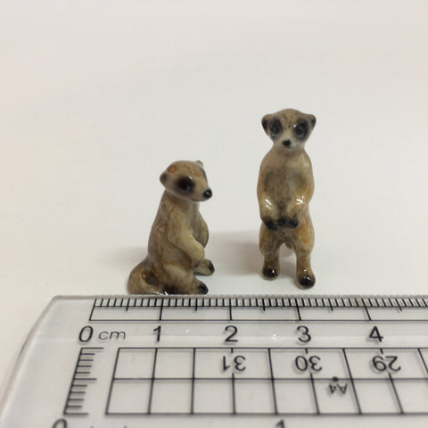 Small Miniature Ceramic Meerkhats