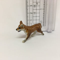 Small Miniature Ceramic Dingo Walking