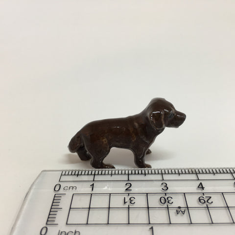 Small Miniature Ceramic Chocolate Labrador