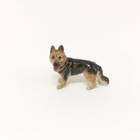 Small Miniature Ceramic German Shepherd