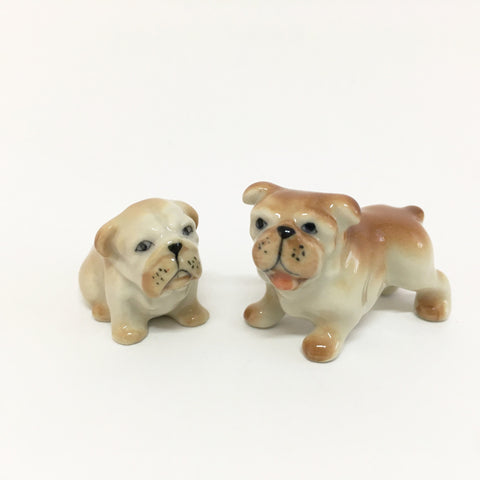 Small Miniature Ceramic Bulldogs