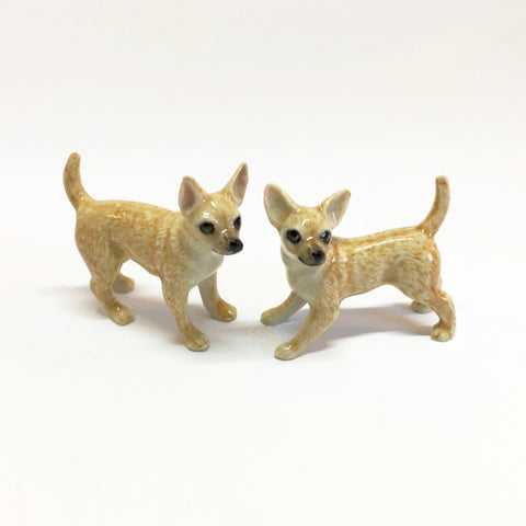Small Miniature Ceramic Chihuahuas