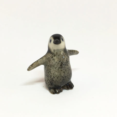 "Small Miniature Ceramic ""Happy Feet"" Penguin"