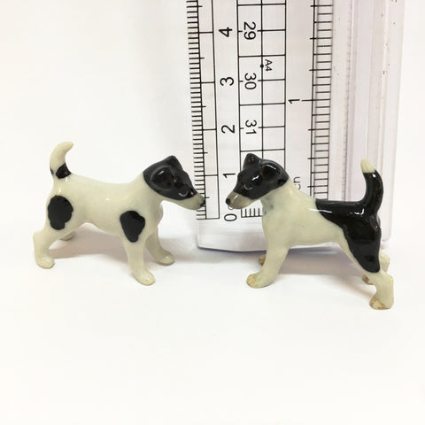 Small Miniature Ceramic Fox Terrier - Foxie