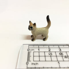 Small Miniature Ceramic Siamese Cat Standing