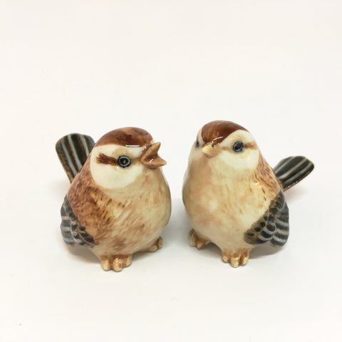 Small Miniature Ceramic Sparrows