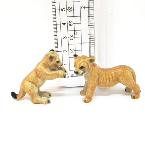 Small Miniature Ceramic Lion Cubs