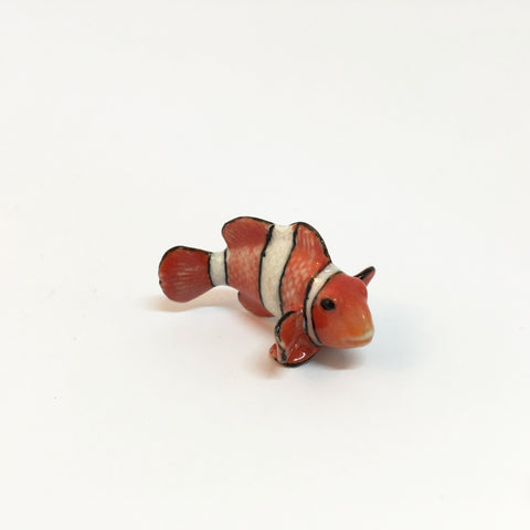 Small Miniature Ceramic Clownfish Family