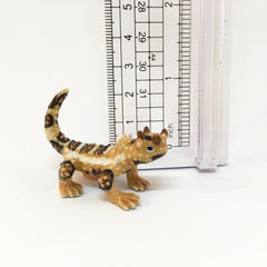 Small Miniature Ceramic Thorny Devil Lizard