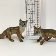 Miniature Ceramic Grey Foxes