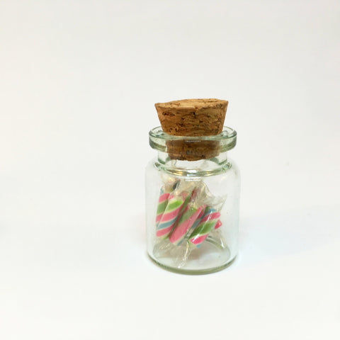 Miniature Polymer Clay Lollies in Glass Bottles